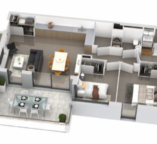 Appartement 3 pièces avec terrasse - Aspretto photo #3187
